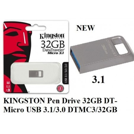 64Gb - Kingston DT100G3/64GB Usb 3.0
