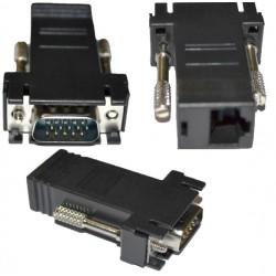 Adattatore cavo prolunga VGA a CAT5/CAT6/RJ45 - Coppia.
