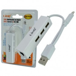 Adattatore Ethernet/Hub Usb - Type C/Usb2.0 [LAN-TPC20]