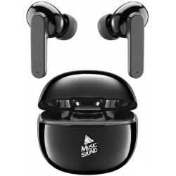 Auricolare BlueTooth True Wireless TWS in Ear Music Black