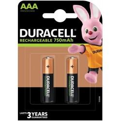 Duracell AAA Plus Power (2pcs) - Ricaricabile 750mAh