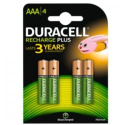 Duracell AAA Plus Power (4pcs) - Ricaricabile 750mAh