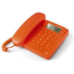 Telefono Saiet 13500564 Telefono Multifunzione, Vivavoce, Identificatore del Chiamante, Ego Arancio