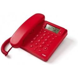 Telefono Saiet 13500564 Telefono Multifunzione, Vivavoce, Identificatore del Chiamante, Ego Rosso