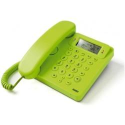 Telefono Saiet 13500564 Telefono Multifunzione, Vivavoce, Identificatore del Chiamante, Ego VERDE
