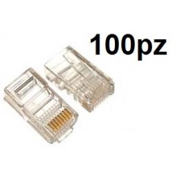 Utility - Plug RJ45 Per Cavo di Rete [Confezione da 100pz]