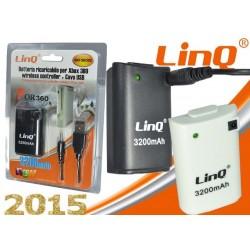 xBox360 Slim Play&Charge - LinQ [BAT-360DC]